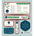 Christmas party restaurant menu set design templat vector