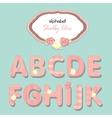 Alphabet shabby chic vector