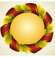 Oak golden laurel wreath vector