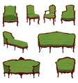 Authentic rococo furniture vector