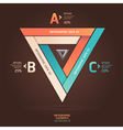Modern infographic infinite triangle origami style vector