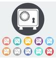 Bank safe icon vector
