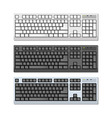 Photo-realistic keyboards set vector