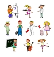 Children professions characters vector