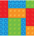 Lego background vector