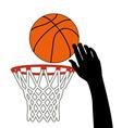 Lucky shot of basketball vector