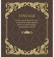 Vintage invitation border and frame template vector