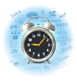 Alarm clock business strategy vector