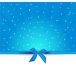 Abstract blue background with bow gift and copy vector