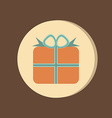 Holiday gift box icon eps 8 vector