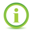 Green info icon vector
