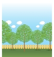Park tree rows vector