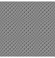 Design seamless monochrome warped grid pattern vector
