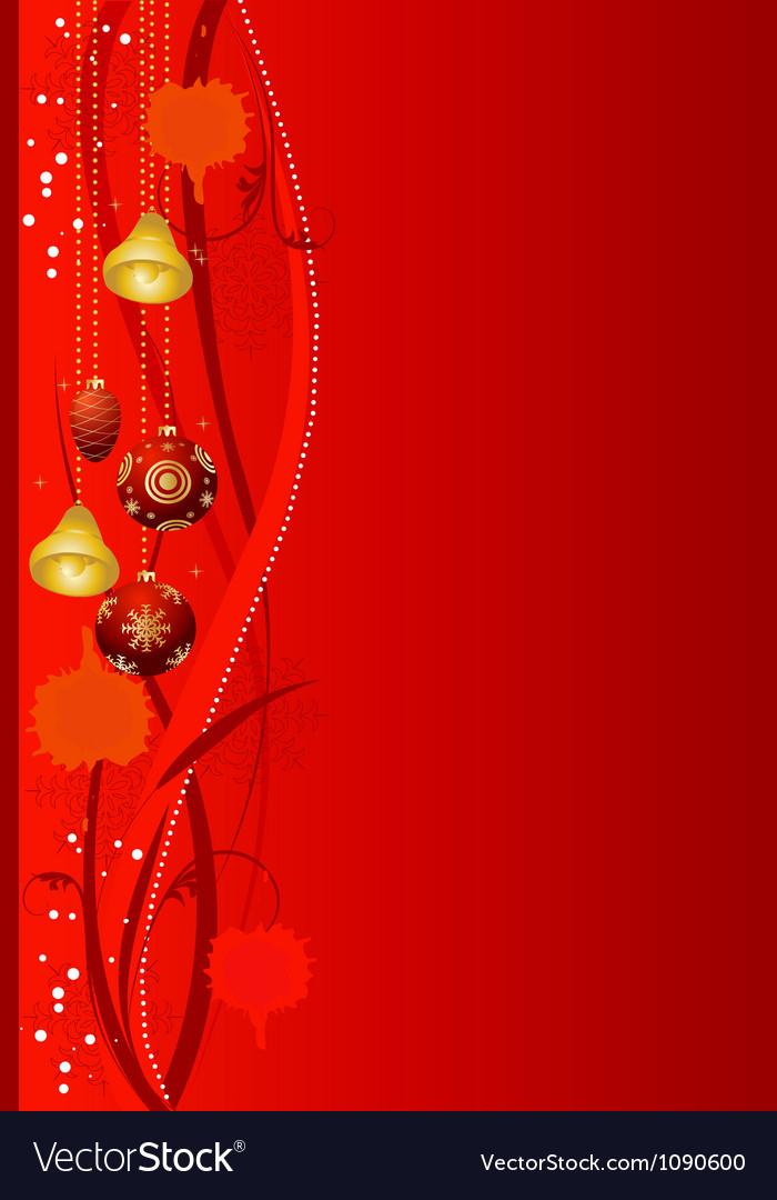 Abstract christmas background christmas-tree decor vector | Price: 1 Credit (USD $1)