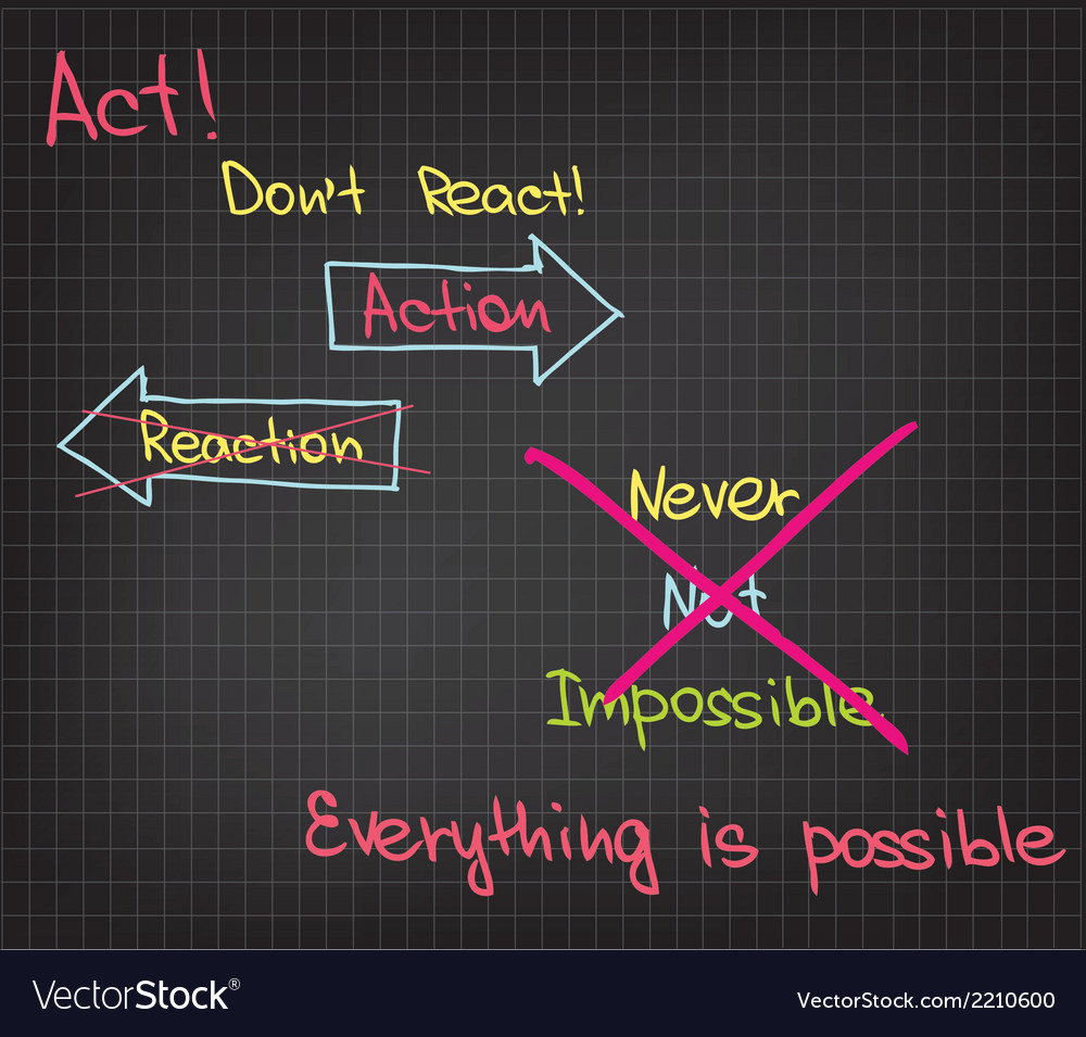 Action everything is possible vector | Price: 1 Credit (USD $1)