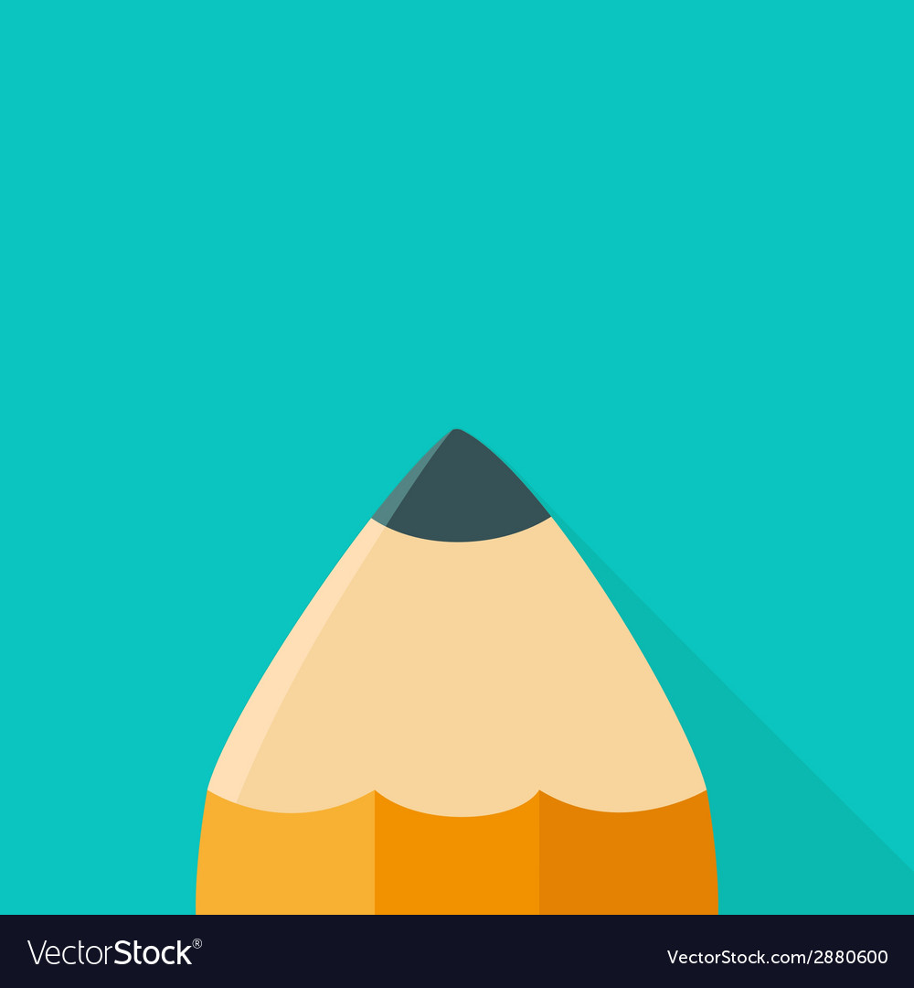 Big orange pencil icon with shadow vector | Price: 1 Credit (USD $1)