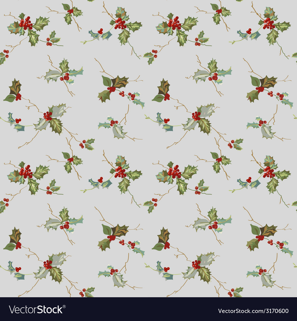 Christmas seamless background - watercolor style vector | Price: 1 Credit (USD $1)