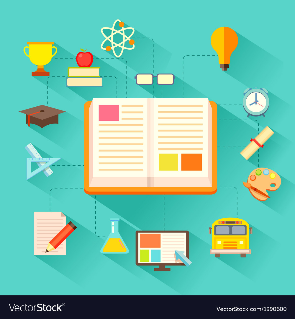 E learning concept vector | Price: 1 Credit (USD $1)