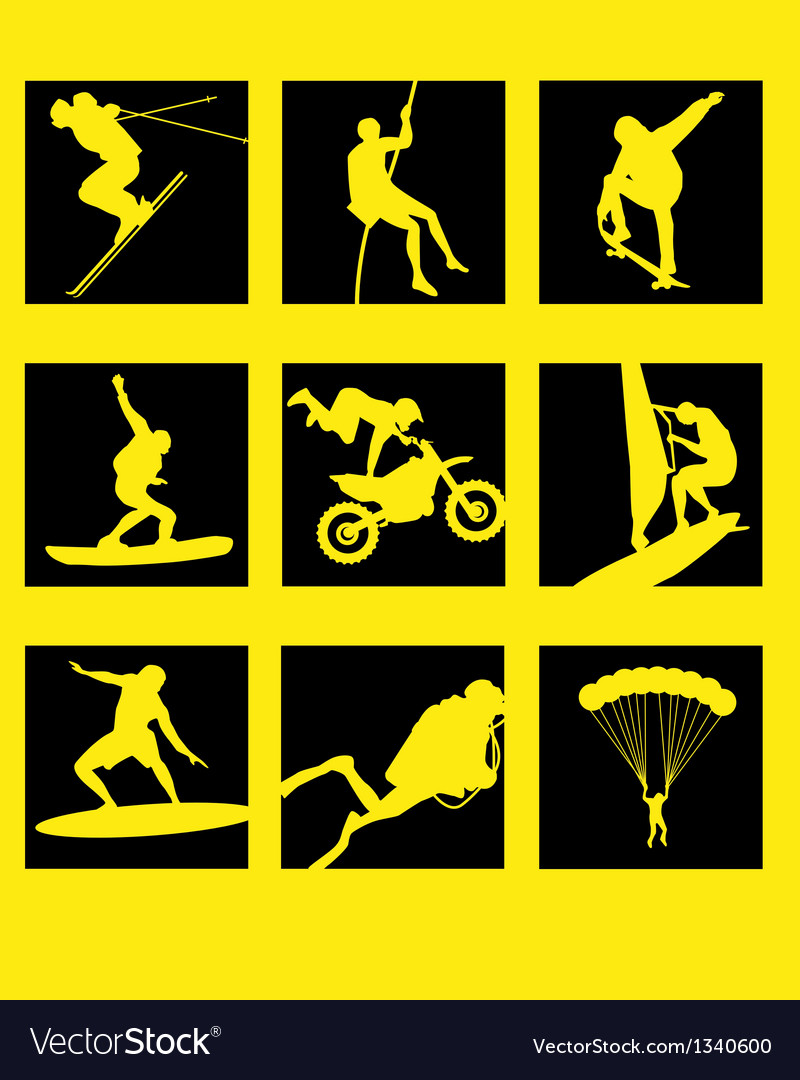 Extreme icons vector | Price: 1 Credit (USD $1)