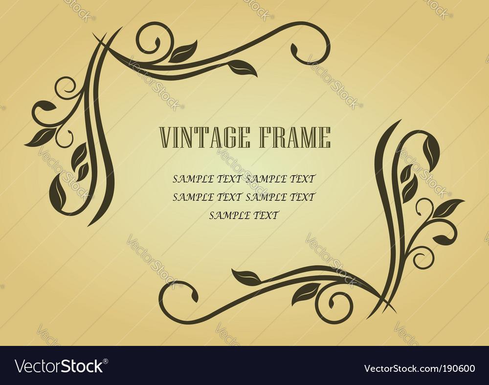 Floral frame vector   Price: 1 Credit (USD $1)