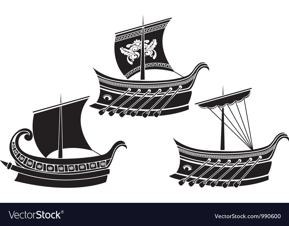 Greek ships 1 vector | Price: 1 Credit (USD $1)