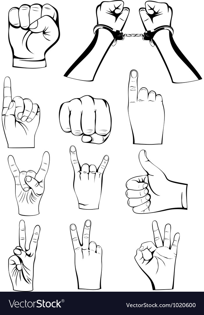 Hands gestures vector | Price: 1 Credit (USD $1)