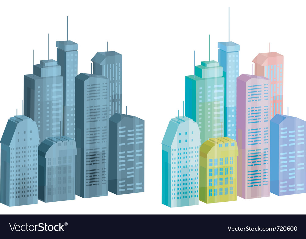 Icons of city vector | Price: 1 Credit (USD $1)