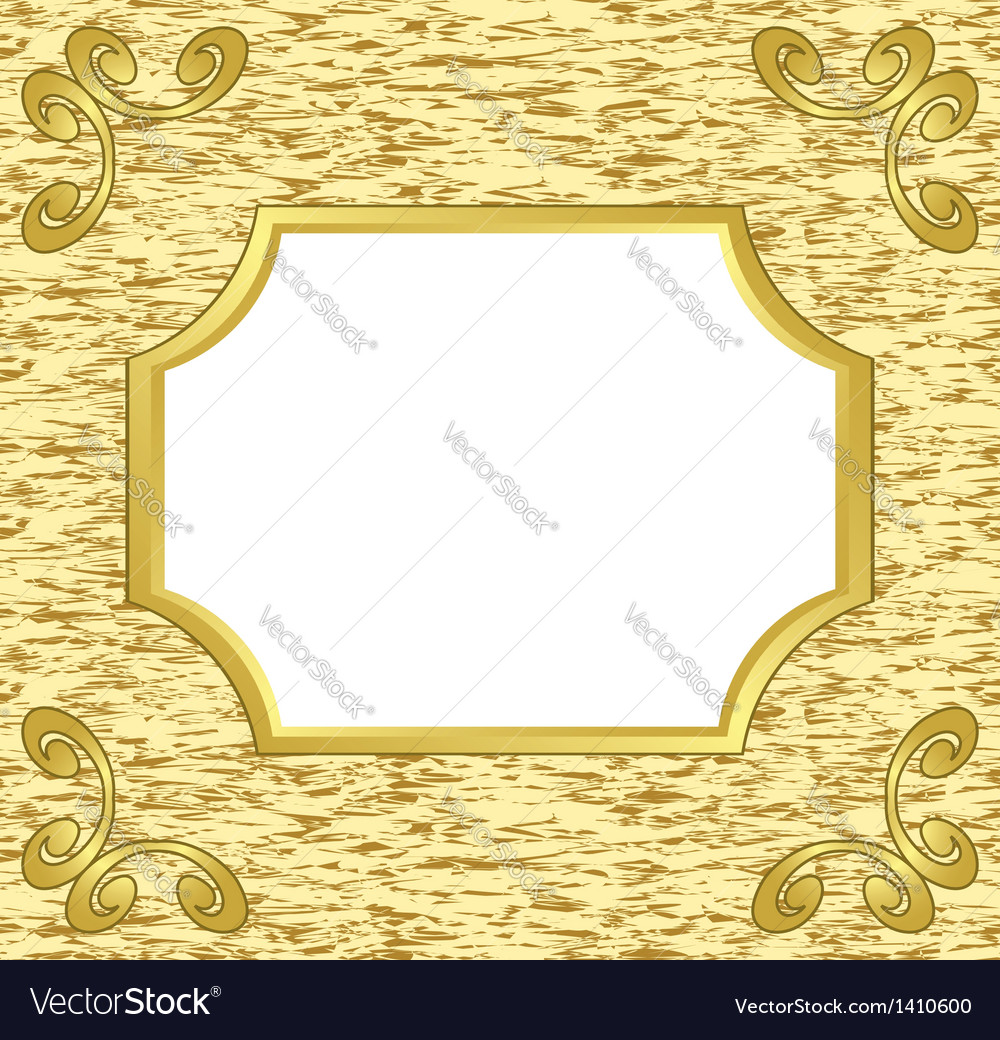 Light decorative card with golden frame vector | Price: 1 Credit (USD $1)