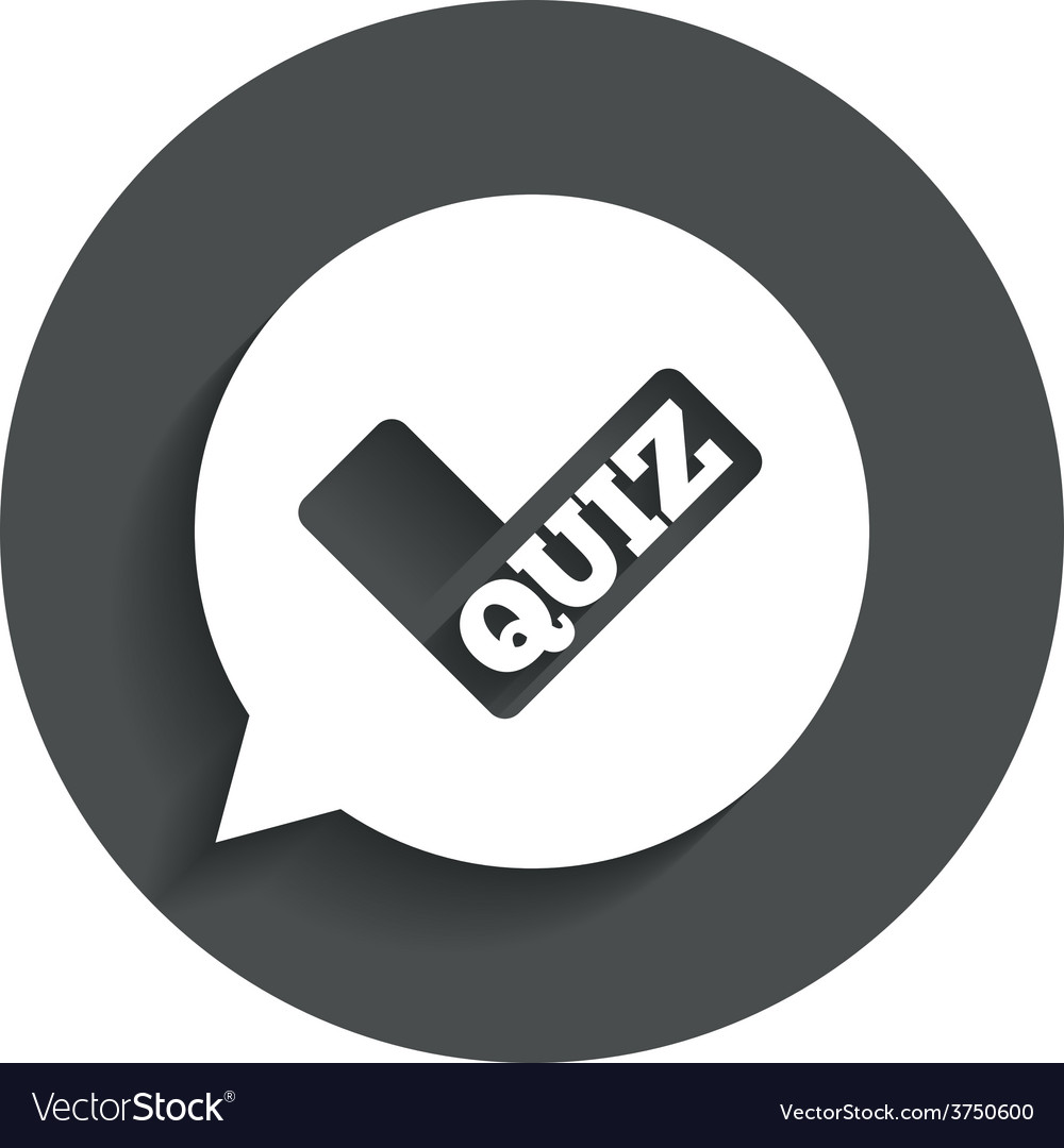 Quiz sign icon questions and answers game vector | Price: 1 Credit (USD $1)