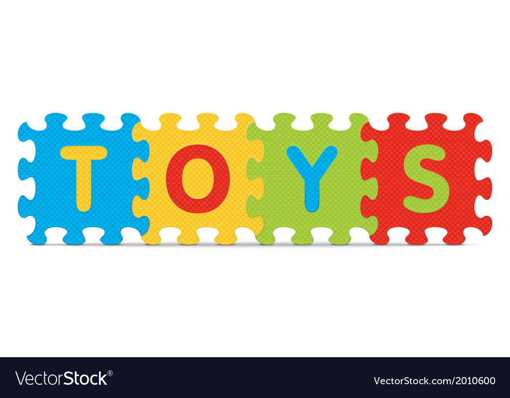 Toys written with alphabet puzzle vector | Price: 1 Credit (USD $1)