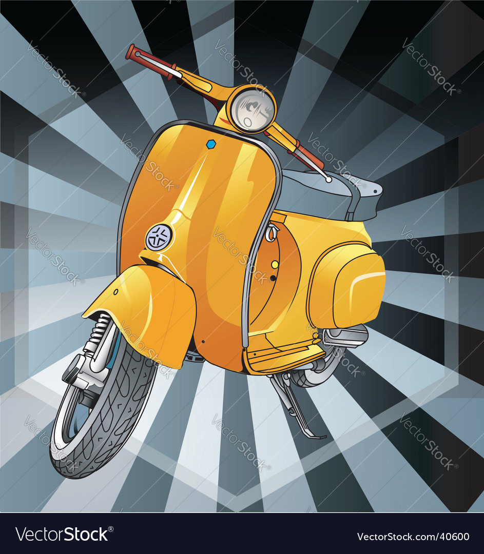Vespa old vector | Price: 1 Credit (USD $1)