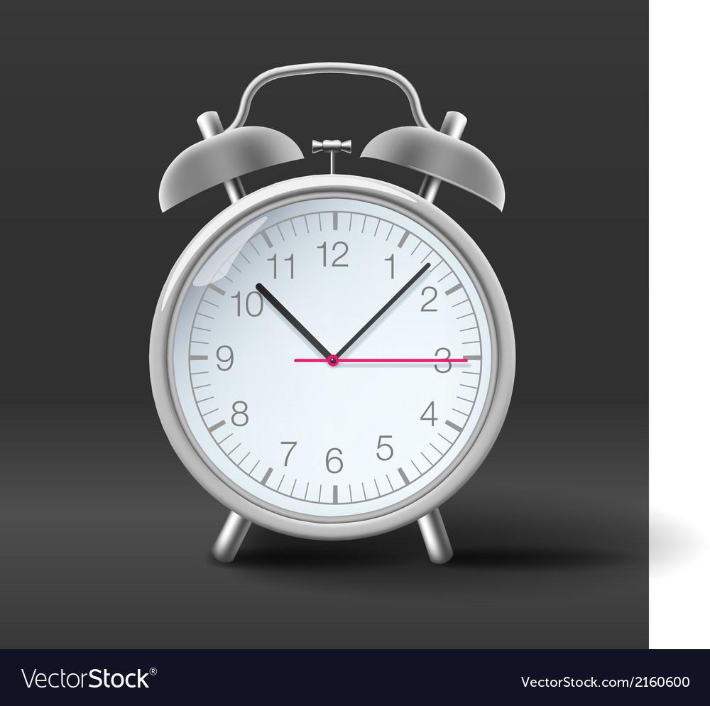 Vintage alarm clock on grey background vector | Price: 1 Credit (USD $1)