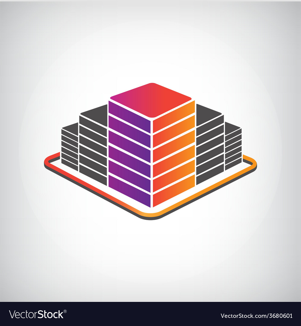 3d building apartment offices icon vector   Price: 1 Credit (USD $1)