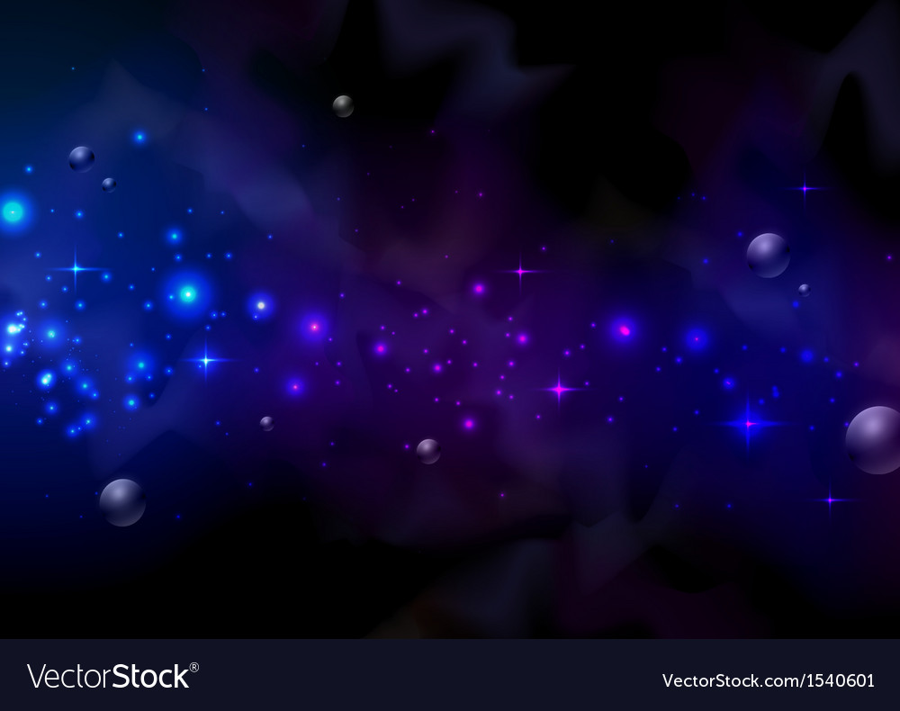 Abstract space background vector | Price: 1 Credit (USD $1)