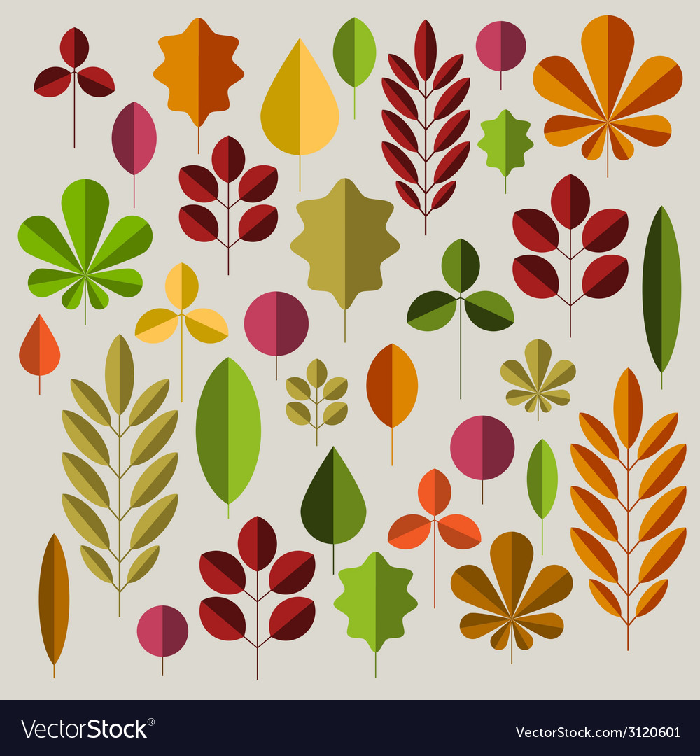 Autumn minimalist abstract floral background vector | Price: 1 Credit (USD $1)