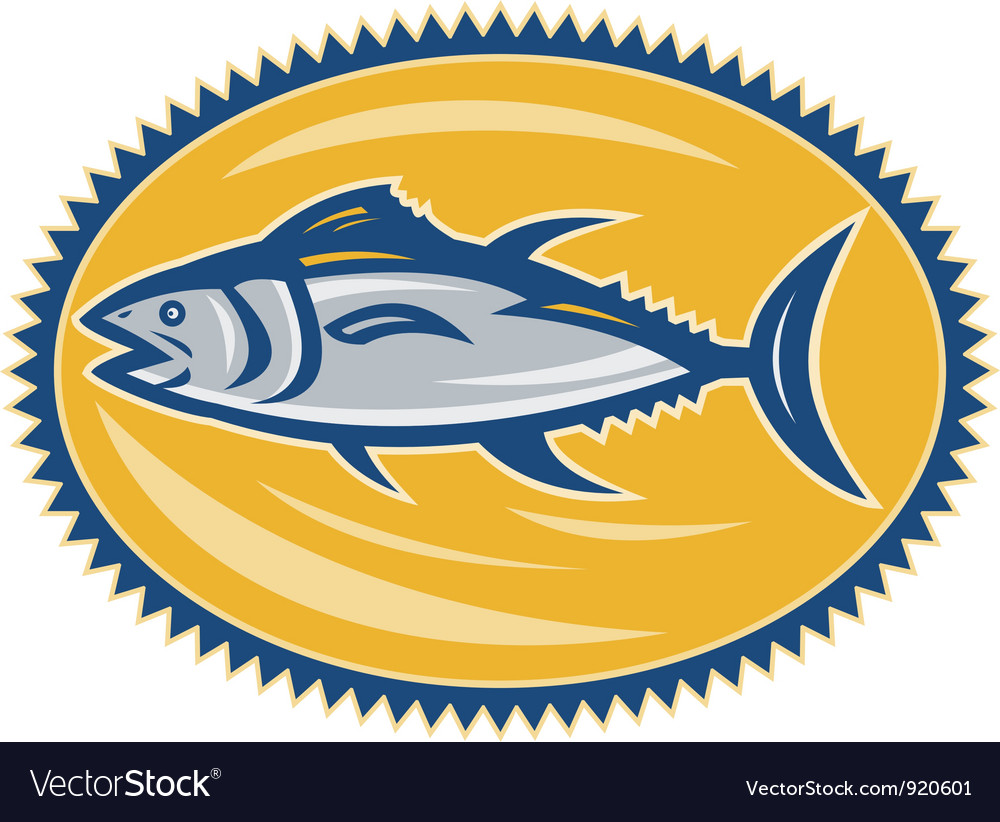 Blue fin tina side retro vector | Price: 3 Credit (USD $3)