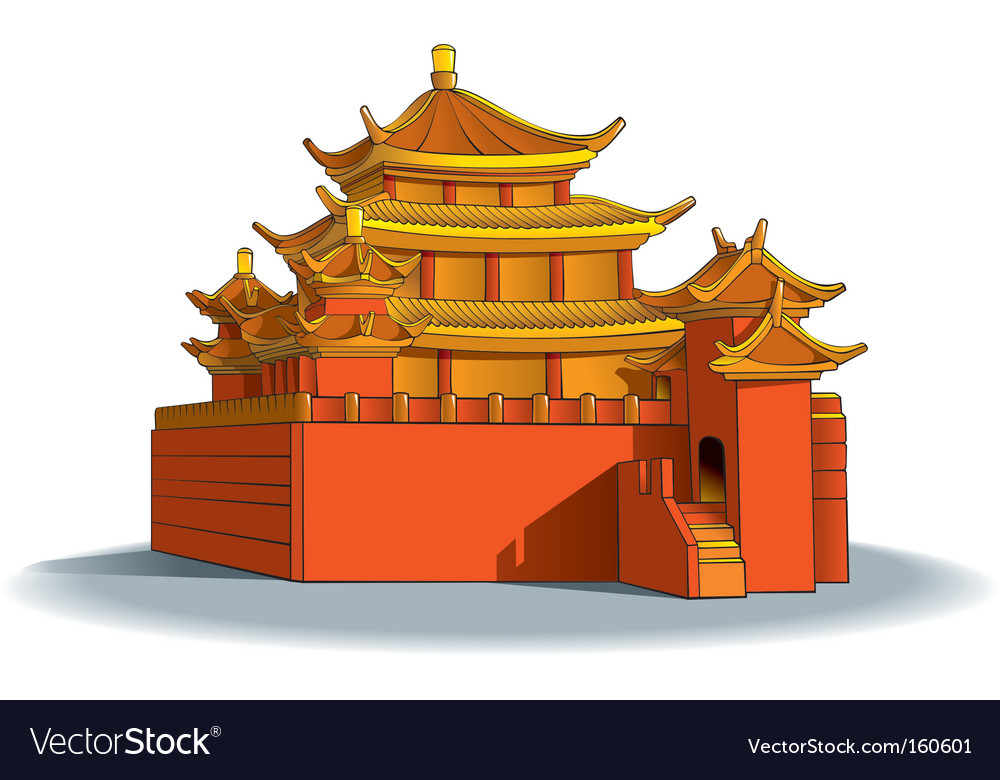 Chinese pagoda vector | Price: 1 Credit (USD $1)