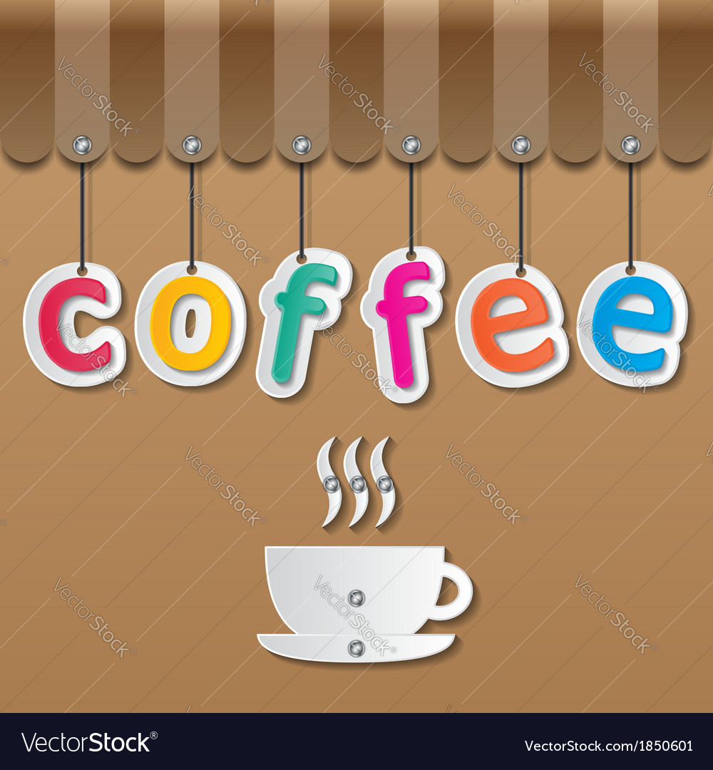 Coffee shopfront sign vector | Price: 1 Credit (USD $1)