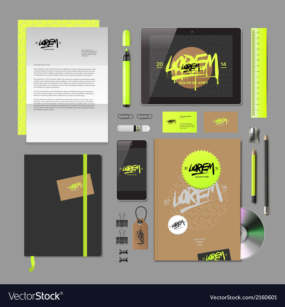 Corporate identity mock-up vector | Price: 1 Credit (USD $1)