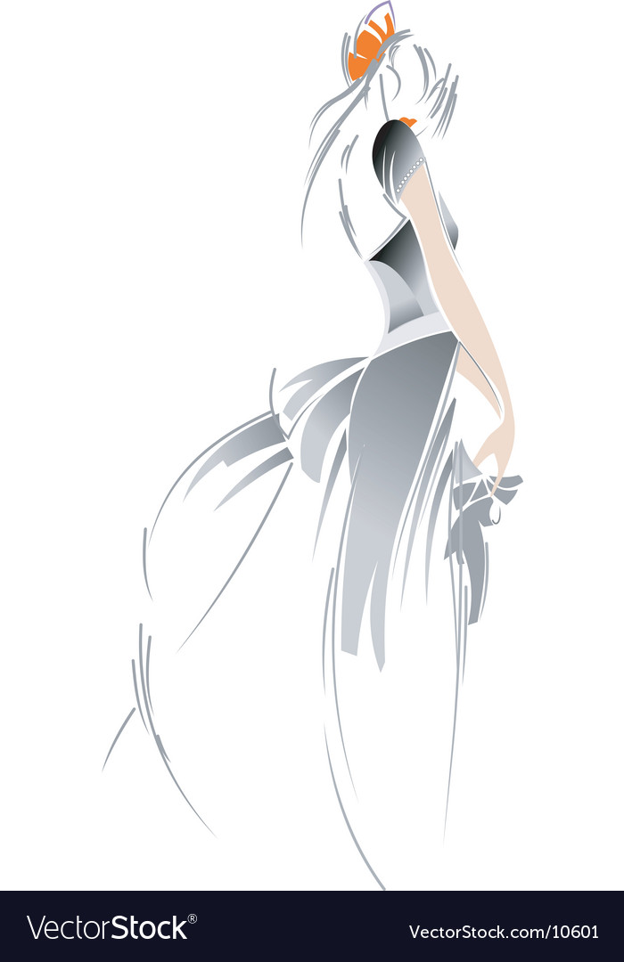 Fashion bride drawing vector | Price: 3 Credit (USD $3)