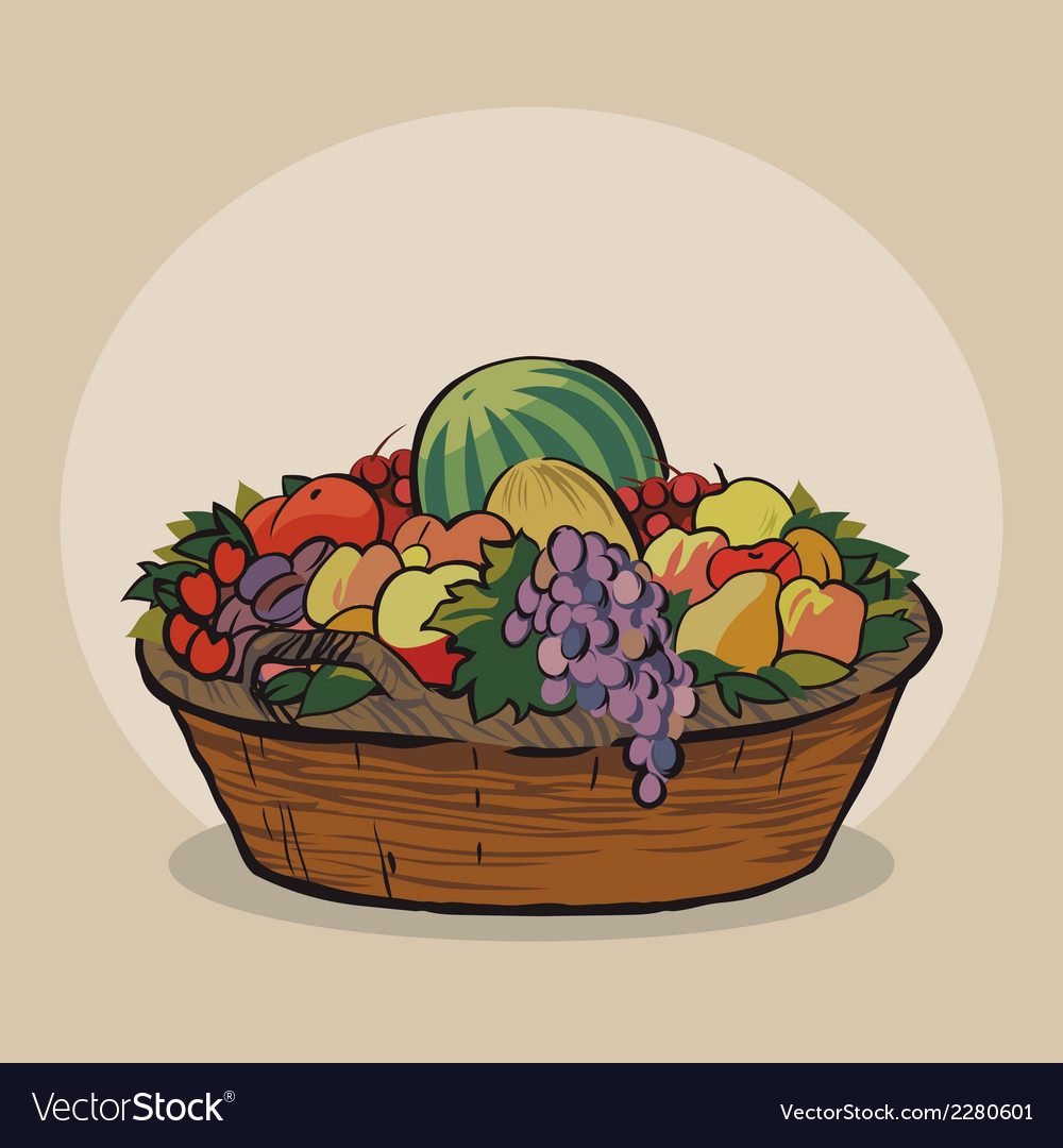 Fruitbasket vector | Price: 1 Credit (USD $1)