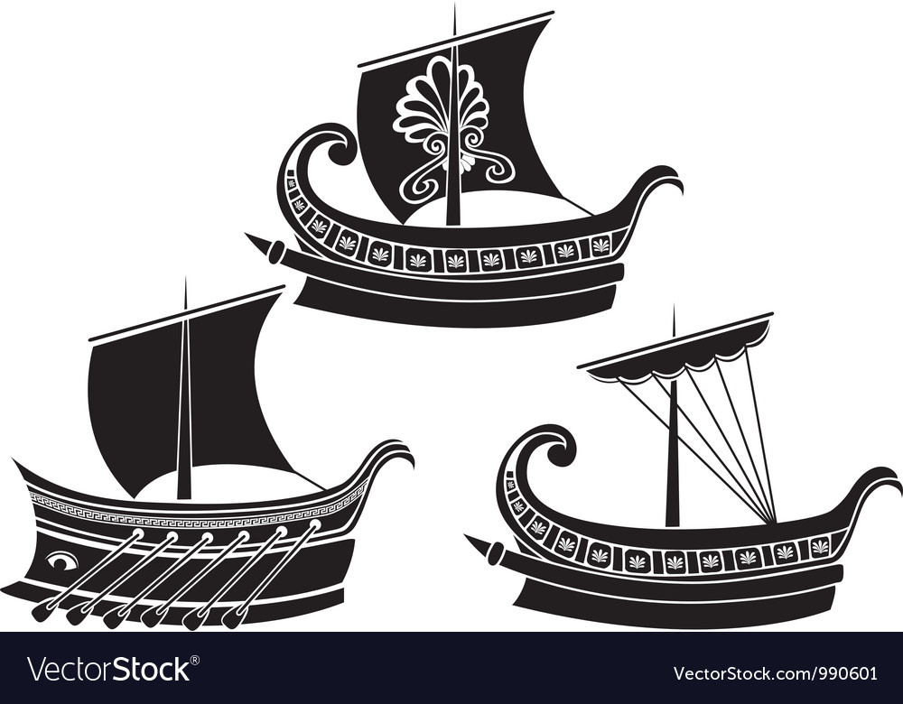 Greek ships 2 vector | Price: 1 Credit (USD $1)