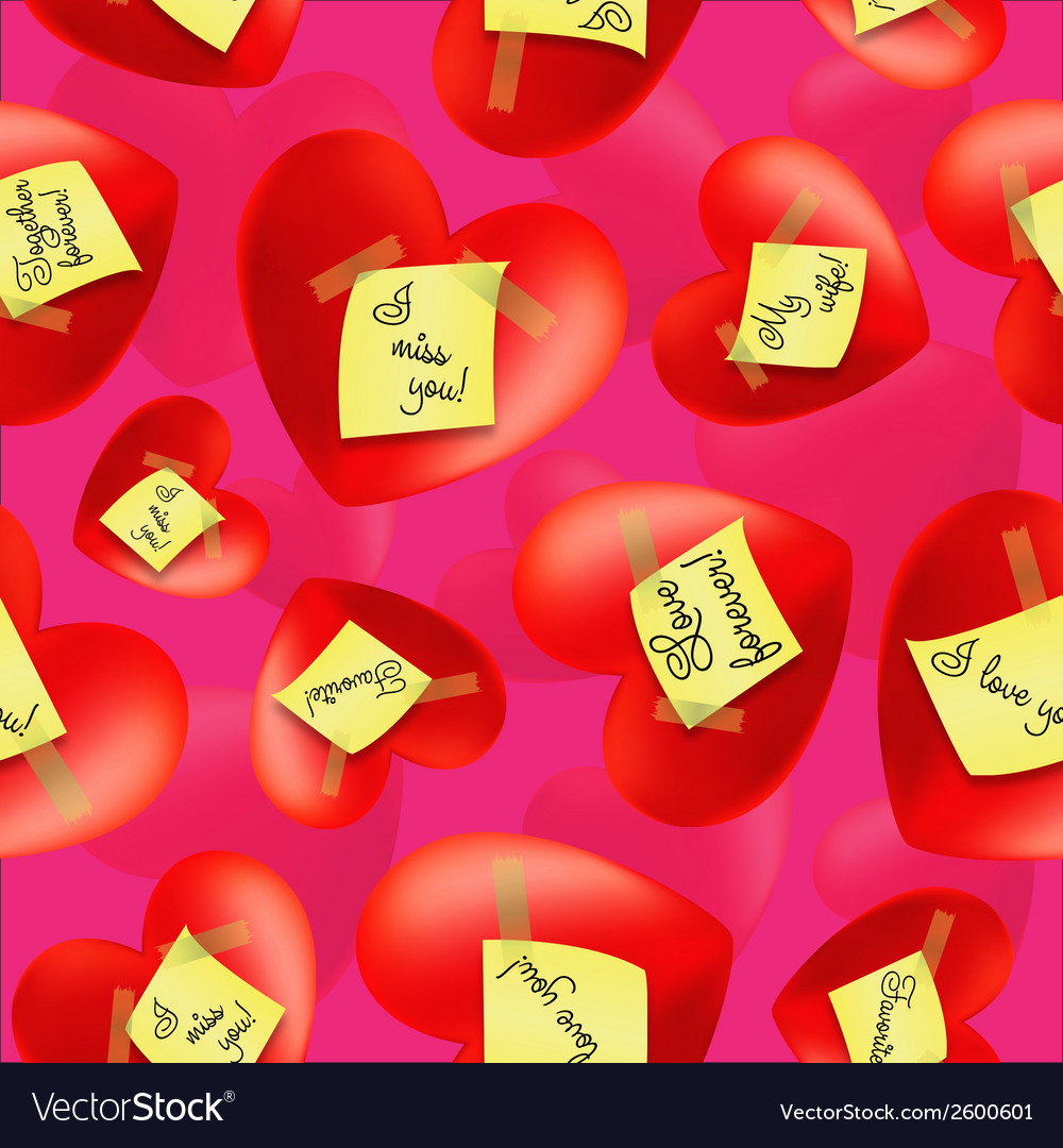 Hearts with stickers and inscriptions valentines vector | Price: 1 Credit (USD $1)