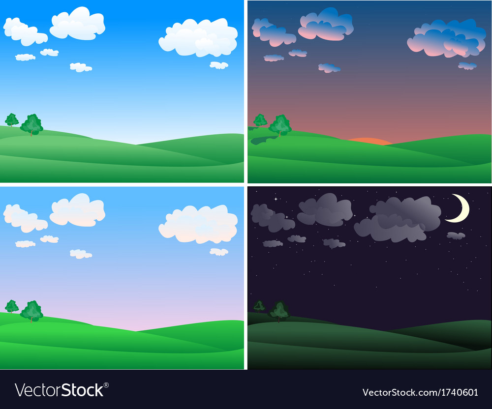 Landscape time vector | Price: 1 Credit (USD $1)