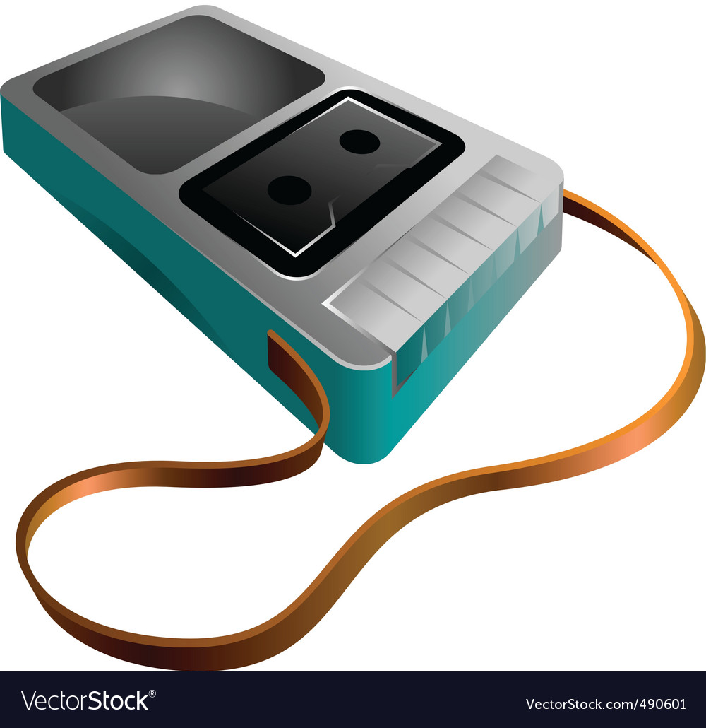Music tape recorder vector | Price: 1 Credit (USD $1)