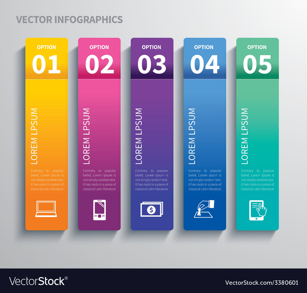 Paper tab infographic vector | Price: 3 Credit (USD $3)