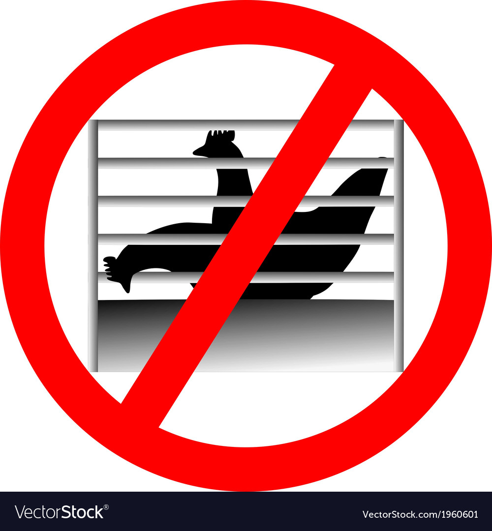 Prohibition sign caging of hen vector   Price: 1 Credit (USD $1)