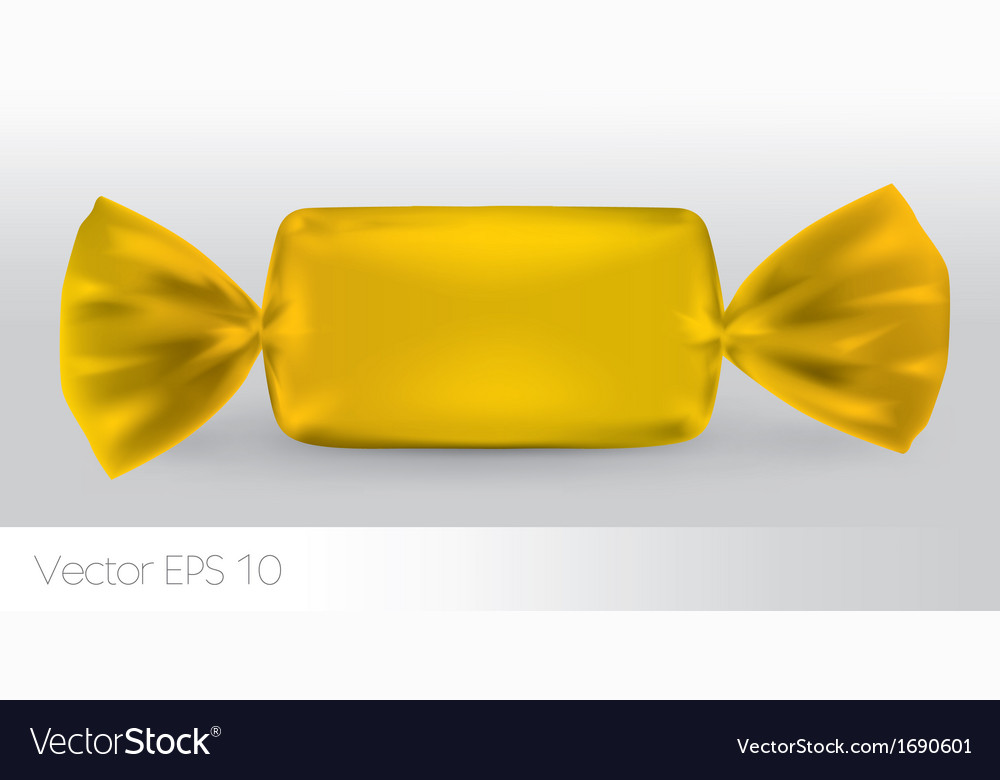 Yellow rectangular candy package vector | Price: 1 Credit (USD $1)