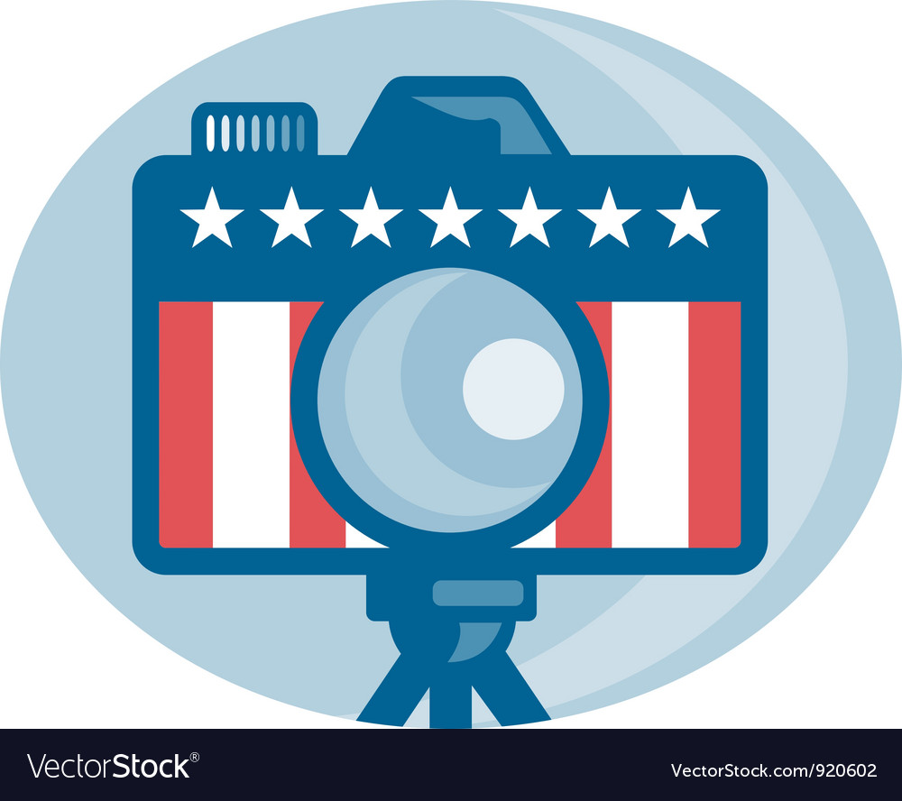 American dslr camera vector | Price: 3 Credit (USD $3)