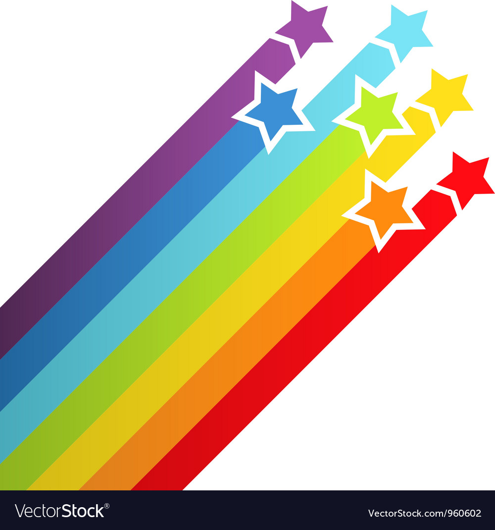 Background with rainbow stars vector | Price: 1 Credit (USD $1)